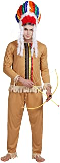 Adults' Indian Costume Brave Caveman Native Warrior Halloween Outfit