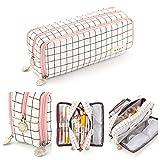Oyachic Astuccio Portamatite Pencil Case Telescopico Astuccio per Matite Custodia per Penna, Simpatici Sacchetti di Cosmetici Scatola (rettangolare Griglia)