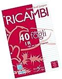 Pigna 00629031R, Ricambio non rinforzato, Rigatura 1R, righe per medie e superiori, Carta ...