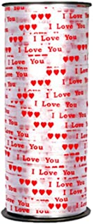 Amosfun Cinta de 100 Yardas Coraz/ón Cinta de Curling Cintas de Regalo Cinta Presente Cinta de Envoltura de Regalo para Fiesta Boda Baby Shower Regalo Embalaje