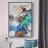 adgkitb canvas Paisaje Abstracto Moderno Montaña Óleo sobre Lienzo Carteles e Impresiones Imágenes de Arte de Pared para decoración de Sala de Estar 40x60cm SIN Marco