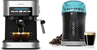Cecotec cafetera express digital power espresso 20 matic para espresso y cappuccino, de 20 bares & molinillo de café y esp...