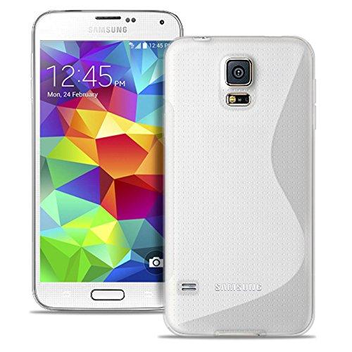 United Case Custodia Protettiva per Cellulare S-Line per Samsung Galaxy S5 Mini | Bianco