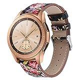 Cinturino universale in vera pelle a sgancio rapido, 20 mm, larghezza 22 mm, compatibile con smartwatch Huawei/Samsung/Moto/Garmin e tradizionale e adatto per orologi popolari