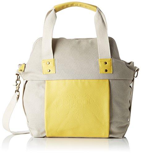 Le Temps des Cerises Damen Jiro_Ltc3t4m Bowlingtaschen, Mehrfarbig (Beige/gelb), 13x36x43 cm