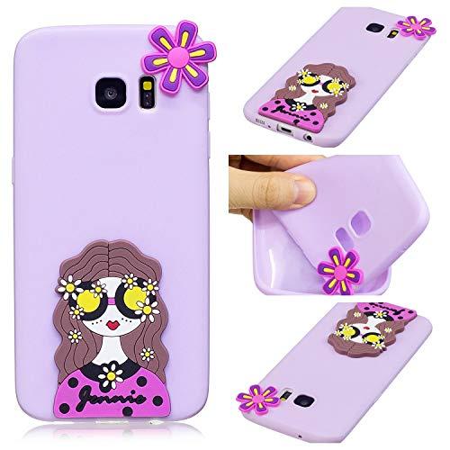 HongYong Coque Samsung Galaxy S7 edge TPU Silicone Housse Étui Cover Case Support Coque de Téléphone portable avec pour Samsung Galaxy S7 edge