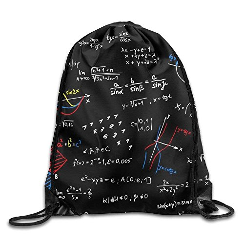 Yuanmeiju Galaxy Cat Laser Basic Mochila con cordón Workout Sackpack for Men & Women School Travel Bag Dark Math Formula