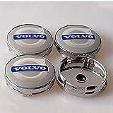 4 Piezas Coche Tapas Centrales Llantas Para Volvo S40 S60L S80L XC60 XC90, 60 Mm Tapas Rueda Centro Tapacubos Coche Insignia Del Polvo Accesorios De Estilo