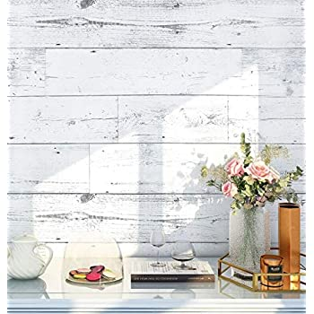 Nuwallpaper Nu3129 Reclaimed Shiplap Peel Stick Wallpaper White Off White Amazon Com
