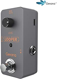 Getaria Mini Looper Guitar Pedal Bybass Unlimited Overdubs Loop Pedal with USB Cable (Mini-loop-8)