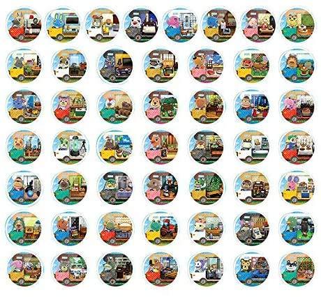 NFC-Mini-Cards für Animal Crossing: New Horizons Amiibo , 50 pcs RVS mit Kartenhalter für Switch / Schalter Lite / Wii U