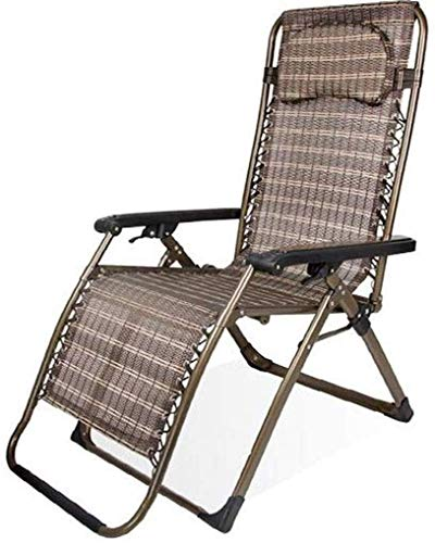 N/Z Wohngeräte Klappstühle Sun Lounger Zero Gravity Liegender Relaxer Stuhl Multi Position Outdoor Garten Patio Liegestuhl (Farbe: D)
