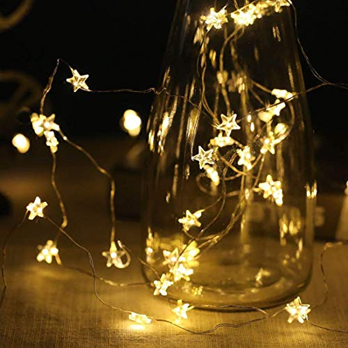 String Fairy Lights for Christmas Halloween Valentines Party Home Bedroom Decoration (Star Fairy Lights)