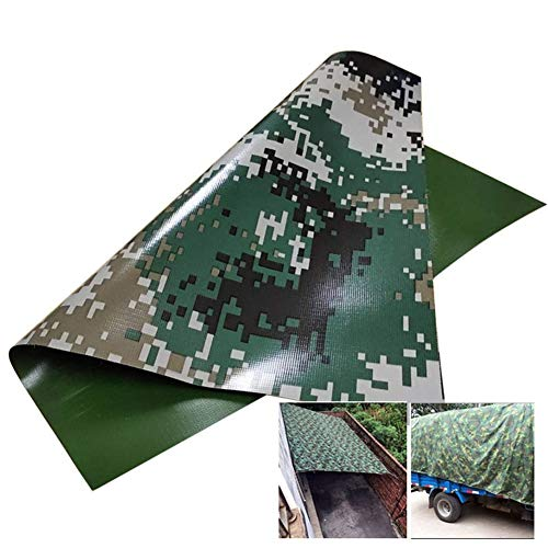 Tarp LJIANW Camouflage Cloth Heavy Duty Tarp Ground Sheet Waterproof Cover for Camping Garden Furniture Agriculture Swimming Pool, Size Can Be Cut (Color : Multi-Colored, Size : 4x8m)