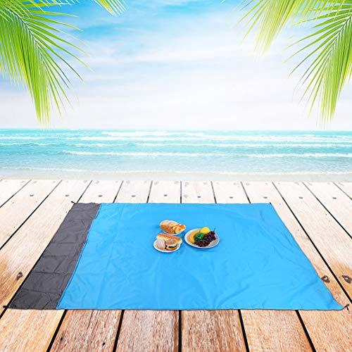 Alfombra de Playa, Mantas de Picnic portátiles Ligeras Azules de 1.4X2M, Ciclismo, Viajes Familiares, Eventos Deportivos, pícnics para la Playa, Camping al Aire Libre, Senderismo