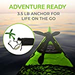 Gradient Fitness Marine Anchor, 3.5 lb Folding Anchor, Grapnel Anchor Kit for Kayaks, Canoes, Paddle Boards (SUP), (3.5…