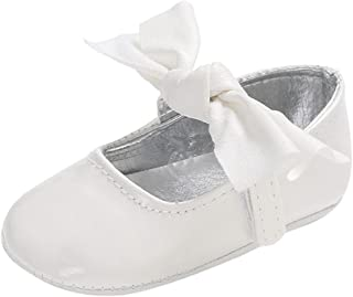 Voberry Infant Toddlers Baby Boys Girls Soft Soled Bowknot Crib Shoes PU Moccasins