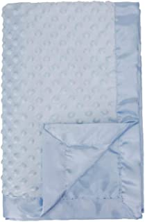 Pro Goleem Baby Soft Minky Dot Blanket with Satin Backing Christmas Gift for Girls and Boys (Blue, 30'' x 40'')