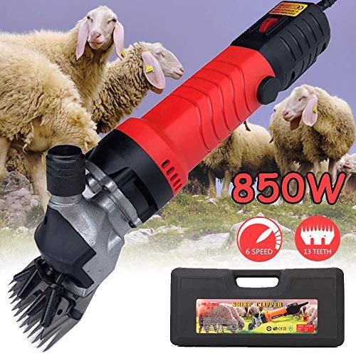 DFBGL Cortadoras de Ganado para Cabras, Tijeras de podar eléctricas Profesionales de 850 W para Trabajo Pesado con 6 velocidades, Tijeras de Oveja eléctricas para Alpacas, Llamas, Animal