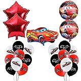Decorazioni di Compleanno Auto da Corsa Compleanno Palloncini Lightning McQueen Foglio di Alluminio Palloncino Pezzi per Bambini Decorazione per Feste a Tema