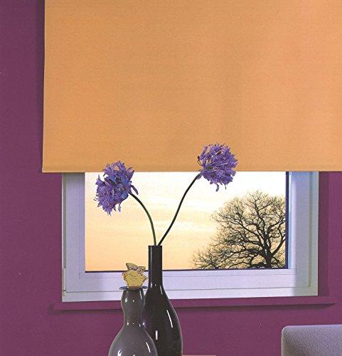 Good Life Rollo Springrollo Mittelzugrollo Schnapprollo Fensterrollo Sichtschutz Breite 62 bis 222 cm Höhe 180 cm Orange Terracotta (82 x 180 cm)
