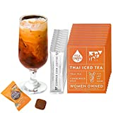 Tea Drops Thai Iced Tea Mix - Authentic On the GoThai Tea Mix with Loose Leaf, Bagless Sweetened Thai Tea and Evaporated Milk Packets - Milk Tea Mix - Pack of 10