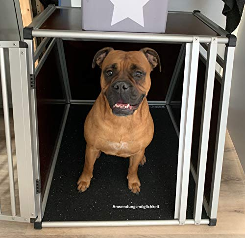 AnimalMat Antirutschmatte Hundematte - Unterlage für Hundeboxen, Futternapf, Schlafplatz, Zwinger (19,99 €/m²) (90 cm x 90 cm)