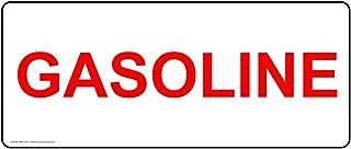 Gasoline Safety Label Decal, 14x5 inch Vinyl for Fuel Hazmat by ComplianceSigns