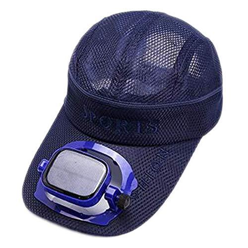 ZHENYUE Gorra de béisbol for refrescarse con ventilador solar de verano Sombrero USB Carga protectora transpirable Protector solar Deportes al aire libre Gorra de viaje, 4 colores (Color: # 2, Tamaño: