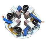 Conjunto de portaescobillas del motor de arranque | Conjunto de soporte de escobillas de carbón para arrancador de vehículo apto para vehículos agrícolas de cuatro cilindros