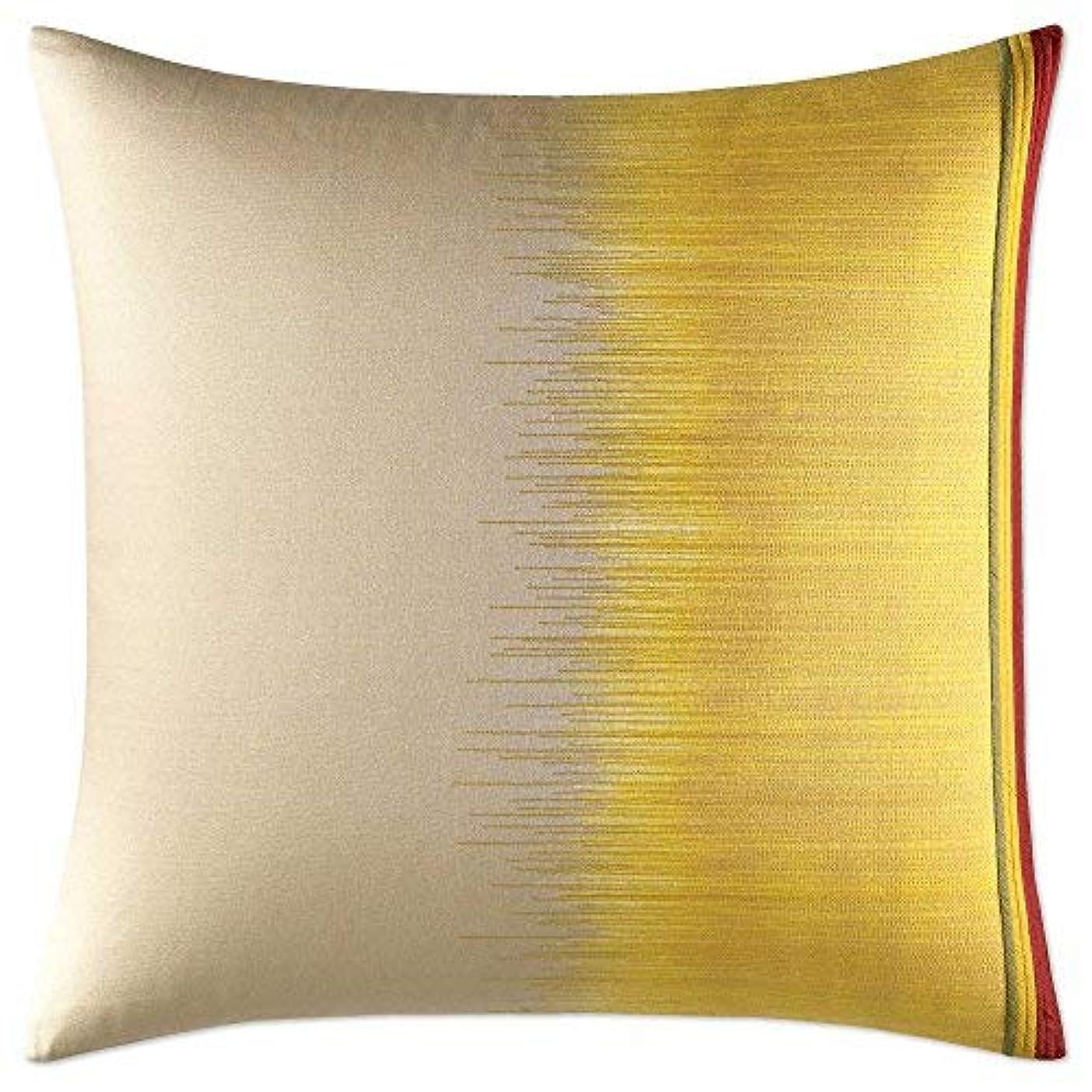 ドレスフォーム言い換えるとEllen DeGeneres Toluca European Pillow Sham, Light Brown And Marigold Yellow [並行輸入品]
