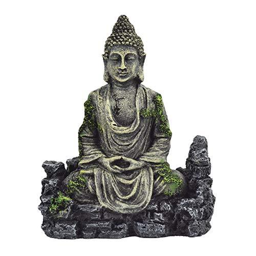 OMEM Aquariumdeko Buddha-Statue