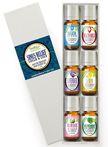 Healing Solutions Sinus Relief Therapeutic Grade Essential Oil, 10 ml (6-Pack)