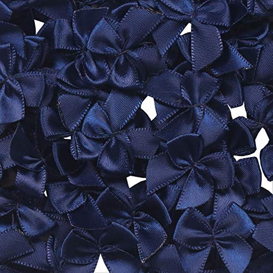 YAKA 80Pcs Mini Satin Ribbon Bows Flowers 1