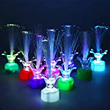 Apol Colorful Fiber Optic LED Rose Light,Changing Flash Light Set 10 Pcs for Kids Toy Home...