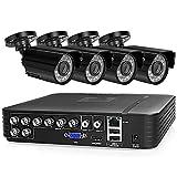 Sistema De Cámaras De Seguridad CCTV 8ch Set 4pcs 720p 1080p Ahd Cámara De Carretera Impermeable A Prueba De Agua Al Aire Libre 2mp Kit De Videovigilancia Inicio(Size:1080P)