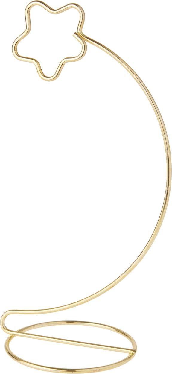 Bard's Star Gold-Toned Ornament 送料無料 一部地域を除く 贈物 Stand 8.25