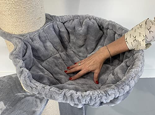RHRQuality Liegemulde de Luxe Hell Grau für Kratzbaum 20cm