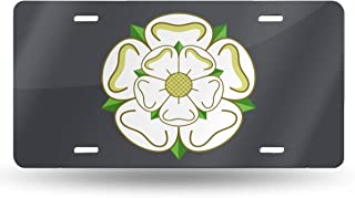Yorkshire Rose County Flag Car License Plate Retro License Plates Decorative Front Plate 6