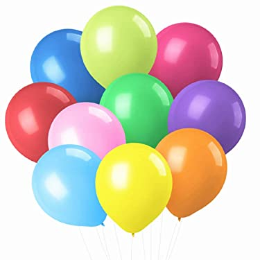 PeStary 100 pcs 12inches Latex Balloons Assored Colorful Birthday Wedding Party Decoration 14 Colors (Assorted)