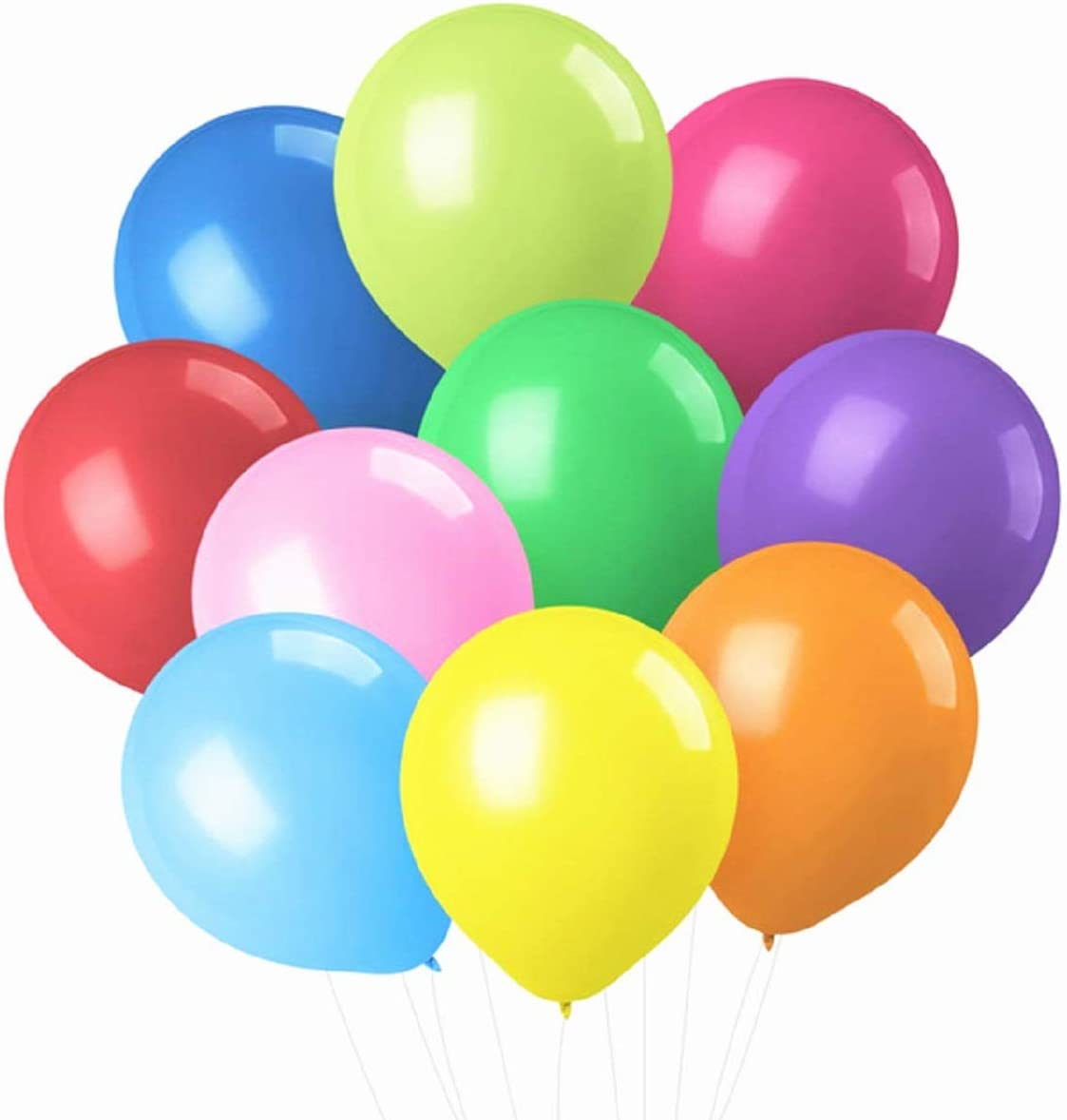PeStary 100 pcs 12inches Latex Colorful Product Max 89% OFF Assored Balloons Birthda