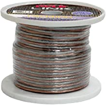100ft 14 Gauge Speaker Wire - Copper Cable in Spool for Connecting Audio Stereo to Amplifier, Surround Sound System, TV Home Theater and Car Stereo - Pyle PSC14100