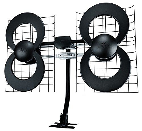 Antennas Direct Clearstream 4 TV Antenna, 70+ Mile Range, UHF, Multi-Directional, Indoor, Attic, Outdoor, Mast W/Pivoting Base/Hardware/Adjustable Clamp/Sealing Pads, 4K Ready, Black – C4-CJM. Buy it now for 72.99