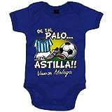 Body bebé de tal palo tal astilla de Málaga para aficionado al fútbol - Azul, Talla única 12 meses