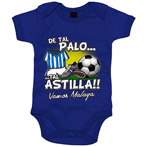 Body bebé De tal palo tal astilla Málaga fútbol - Azul Royal, 12-18 meses