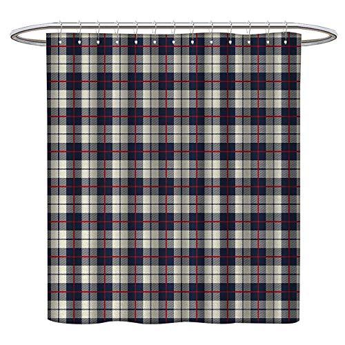 LewisColeridge Cortina de Ducha Abstracta, Imagen de Fondo Gris carbón con Flores y círculos detallados, Resistente al Moho, Lavable, no tóxico, Inodoro, SPA, para baño