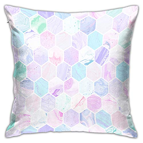 MZTYPLK Decorative Square Pillow Covers,hand painted marble tiles seamless artistic,Pillowcases Cushion Cover Throw Home Decor for Sofa Car Bedroom (50x50cm)(1PCS)
