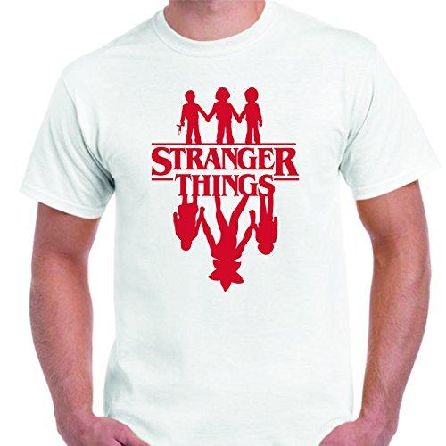 DrMugCollection Camiseta Stranger Things ¿Amigos? (XXL)