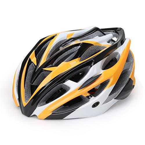 ReooLy Schweißfester, stoßfester und schlagfester Fahrradhelm, abnehmbarer und waschbarer, belüfteter und robuster Helm(Orange,57-62cm)