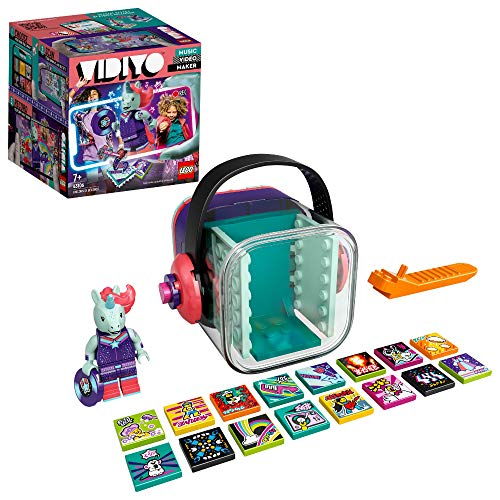 LEGO 43106 VIDIYO Unicorn DJ BeatBox Music Video Maker Musik Spielzeug für Kinder, AR App Set mit Einhorn Minifigur